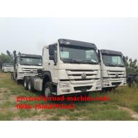 Buy cheap Red Prime Mover Truck HOWO 6 x 4 340HP Tractor Trailer With Wabco System, 10 Wheels, 6 Wheels, LHD/RHD from wholesalers