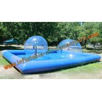 Buy cheap Blue Inflatable Human Sized Hamster Ball / Inflatable Walk On Water Ball from wholesalers
