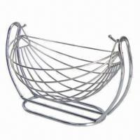 Buy cheap Stainless Steel Fruit Basket, Can be Used to Hold Vegetables of Fruits, Available in Various Designs from wholesalers