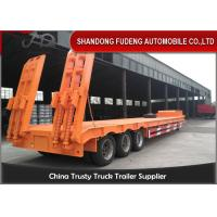Buy cheap 3/4 Axles Transport Heavy Duty Equipment 60 Tons Lowboy Semi Trailer from wholesalers