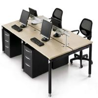Buy cheap Customized Size Office Furniture Partitions / Wooden Modular Office Workstation from wholesalers