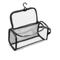 Buy cheap Hanging Cosmetic Travel Bag PVC Transparent With Inner Mesh Pocket from wholesalers