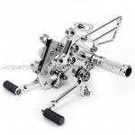 Buy cheap Aluminum Silver / Black Motorcycle Rear Sets , Custom Motorcycle Foot Pegs from wholesalers