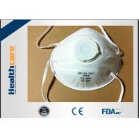Buy cheap FFP3 / FFP4 Disposable Face Mask Surgical N95 Respirator With Valve Anti Virus from wholesalers