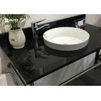 Buy cheap Nero Assoluto Polished Granite Vanity Countertops Bacteria Resistance Hard Surface from wholesalers