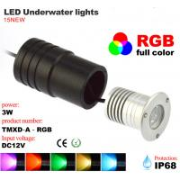 3w led underwater light rgb waterproof ip68 landscape poor. Black Bedroom Furniture Sets. Home Design Ideas