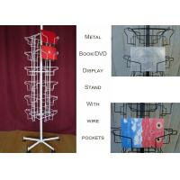Buy cheap 24 Landscape Wire Book Display Stands / Greating Card Wire Book Rack Display product