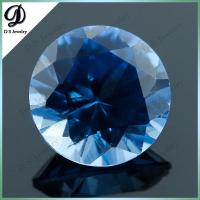 Buy cheap Lab-created hthp round brillant cut synthetic blue sapphire spinel stone from wholesalers