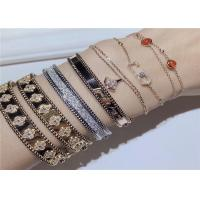 Buy cheap Personalized 18K Gold And Diamond Bracelet For Wife / Girlfriend product