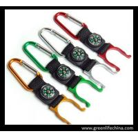 Buy cheap Metal colors carabiner with lanyard keychain and metal hook holder excellent quality hooks from wholesalers