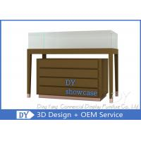 Buy cheap Wood Jewelry Store Pedestal Showcase / Jewelry Counter Fixture from wholesalers
