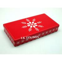 Buy cheap Custom Rectangle Box Straight Corner With Printing And Embossing , Gift Tin Box from wholesalers