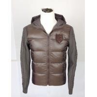 Buy cheap Woven and knitted patchwork Mens Padded Coat  with personalized LOGO product