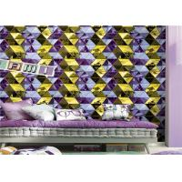 Buy cheap Modern Geometric Wallpaper Washable Diamond Pattern For Lounge Room product