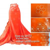 Buy cheap Hot Selling New design Elegant african velvet lace fabric from wholesalers