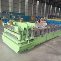 Buy cheap Siemen PLC Control System Glazed Tile Roll Forming Machine Roller Diameter 75mm from wholesalers