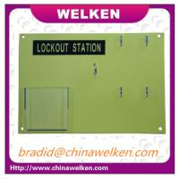 Buy cheap CHINA WELKEN, ABS Resin Material, Door for Polycarbonate ,Shock Resistance, 4 Padlocks Lockout Station from wholesalers