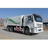 Buy cheap 90km / h Max speed howo 336HP china garbage truck capacity 10 ton / 6*4 garbage truck from wholesalers