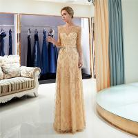 Quality Gold Color Adults Ladies Evening Dresses , Breathe Freely Womens Evening Gowns for sale