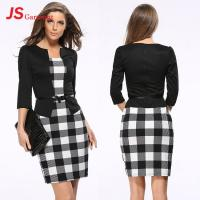Buy cheap JS 20 In Stock Best Selling 2018 Sexy Mature Women Office Dress Custom Knit Two Piece Dresses 708 from wholesalers