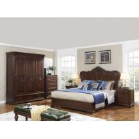 Buy cheap King size Wooden Beds with Bespoke Armoire in Villa and Hotel furniture FF&E solution fixture with Spring mattress product