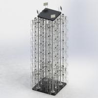Buy cheap 4 Columns Rotating Metal Book Display Stand With MDF Base W5.5 X D1.5 X H8 from wholesalers