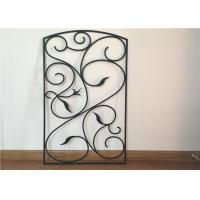 China 22*36  Wrought Iron Glass Hollow Structure Stained / Polished Surface Finish on sale