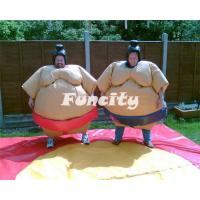 Buy cheap PVC Inflatable Sport Games , 1.2m / 1.5m Orange / Yellow Kids Sumo Suit from wholesalers