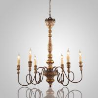 Buy cheap Vintage Iron Filament Painted wood chandelier for Hotel Indoor Lighting (WH-CI-17) from wholesalers