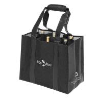 Buy cheap Environmental reusable jute wholesale wine bags 6 Bottle Wine Bag Wholesale Customizable LOGO Wine Carrier Tote Bag from wholesalers