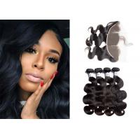Buy cheap Natural Body Wave Bundles With Frontal / 10A Brazilian Bundles With Frontal from wholesalers