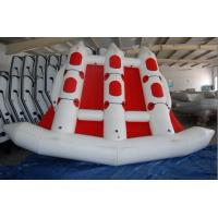 Buy cheap Red 380cm Length Six Person Inflatable Flying Fish Boat With 10 Chamber from wholesalers