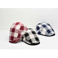 Buy cheap Cotton Fabric Custom Personalized Hats Fashion Lattice Appearance With Curved Brim from wholesalers