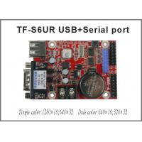 China TF-S6UR USB and serial port single&dual color p10 module support led text display asynchronous led control card on sale
