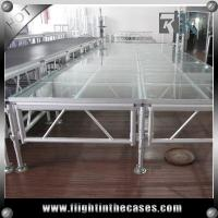 Buy cheap Acrylic stage platform concert stage birthday stage decorations stage riser folding leg from wholesalers