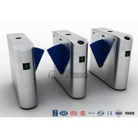 Buy cheap RS485 Retractable Acrylic Flap Half Height Turnstiles For Pedestrian Access from wholesalers