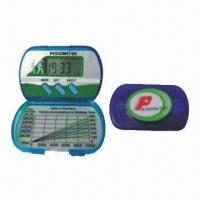 Buy cheap Promotional Pedometer, displays hour/minute in 12/24 system, customized logos are accepted from wholesalers