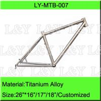 Buy cheap 26 Inch Titanium Mountain Bike Frame from wholesalers