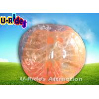 Buy cheap Tpu 1.5M Orange Soccer Bubble Ball / Outdoor Inflatable Body Bumper Ball from wholesalers