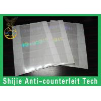Buy cheap Rounded rectangles California holographic overlay adhesive Anti-Counterfeiting without UV from wholesalers