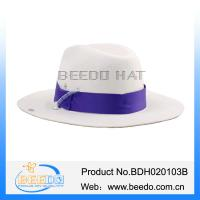 Buy cheap Promotional women cowboy hat with adjustable cotton ribbon from wholesalers
