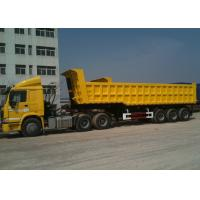 Buy cheap 3 BPW Axles And Hydraulic End Dump Truck with 42 Cbm Capacity Volume from wholesalers