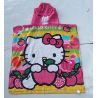 Buy cheap Cartoon Children Cloak  Hooded  Towel 120*20cm Baby Bathrobe for sea beach from wholesalers