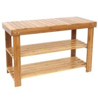 Buy cheap Non - Toxic High Strength Bamboo Home Furniture , Bamboo Shoe Storage Bench from wholesalers