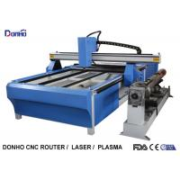 Buy cheap Blue CNC Plasma Metal Cutting Machine / Industrial Plasma Cutter With Rotary Axis from wholesalers