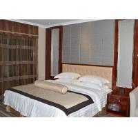 Buy cheap Custom Rosewood Veneer Commercial Hotel Furniture Strong Modern Bedroom Set from wholesalers