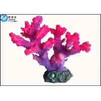Buy cheap Customized Rose Red Coral Aquarium Tank Decorations Fish Resin Ornaments for Home from wholesalers