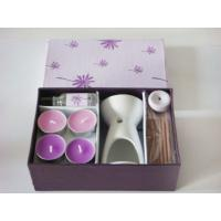 Buy cheap Beautiful Incense Scented Candle Oil Burner Gift Sets For Home Decoration product