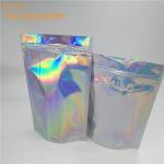 Buy cheap Custom printed hologram plastic bag with zipper  holographic plastic bath salt bag holographic plastic bag for cosmetic from wholesalers