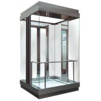 Buy cheap MRL Square Glass Observation Elevator Center Opening Type With Fuji Control System from wholesalers